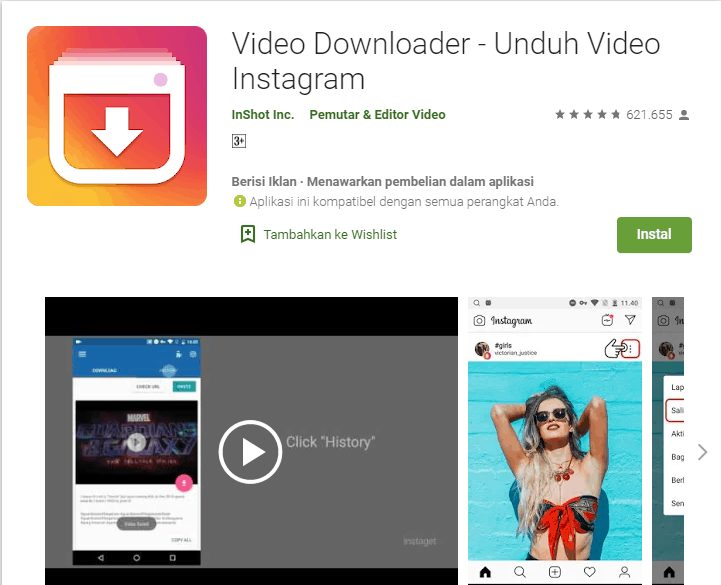 cara mendonwload video di instagram
